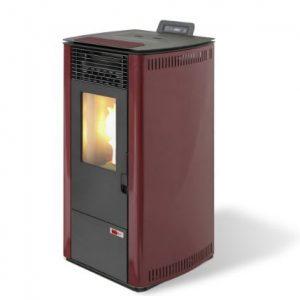 estufa de pellet maxlor-burn-10-rojo